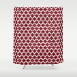 Bulgarian Folklore Inspired Design - KANATITSA Shower Curtain