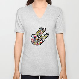 Shocker Stickerbomb Unisex V-Neck