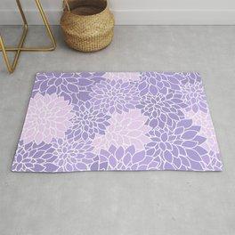 Lavender Dahlias Rug