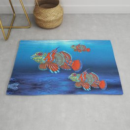 Mandy, the Mandarin Fish Rug