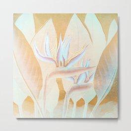 Floreal - Tropical Flowers Daydream Surrealism Pastel Metal Print