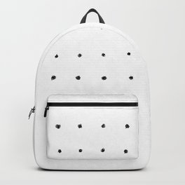 Dot Grid Black and White Backpack
