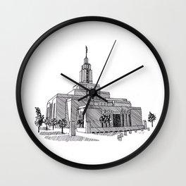 Draper Utah LDS Temple Wall Clock