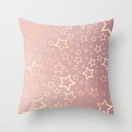 Rose Gold Stars  Throw Pillow