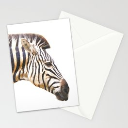 Zebra portrait Stationery Cards
