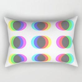 CMYK in RGB Circles Rectangular Pillow
