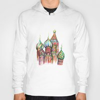 russia Hoodies featuring Russia by Lam Designs