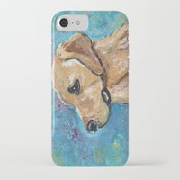 lab iPhone & iPod Cases featuring Yellow Lab by gretzky