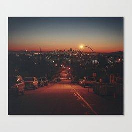 Van City Nights Canvas Print