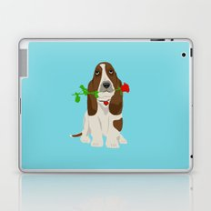 Basset Hound Dog in Love Laptop & iPad Skin