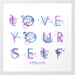 Kpop BTS: LOVE YOURSELF! Art Print