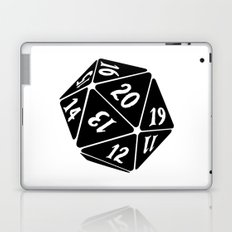 20 Sided Spindown die Laptop & iPad Skin