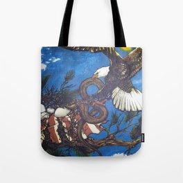 Eagle Vs. Snake Tote Bag