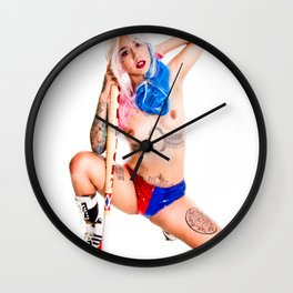 Harley Cosplay Wall Clock