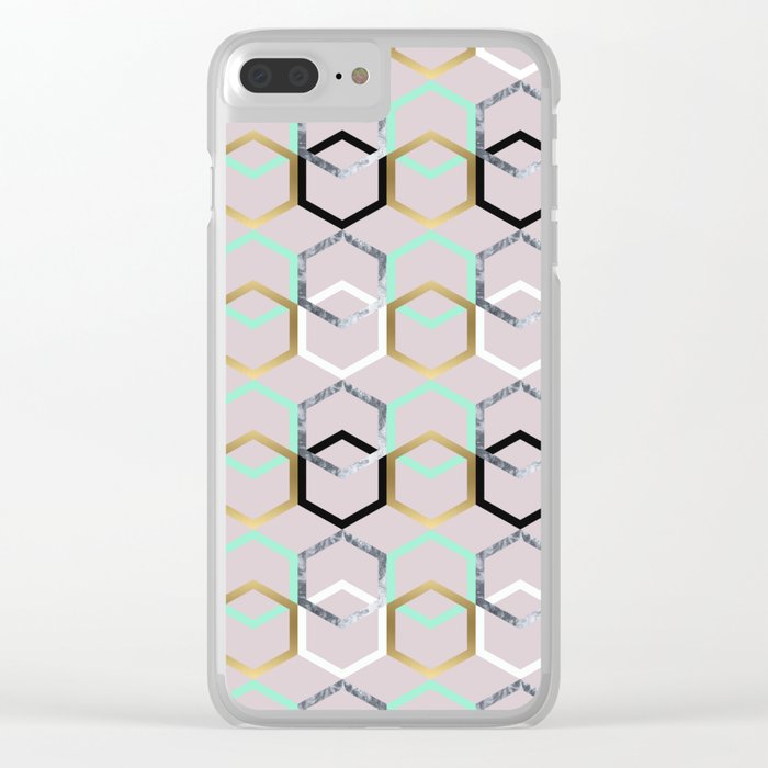 Textures and Interceptions Clear iPhone Case