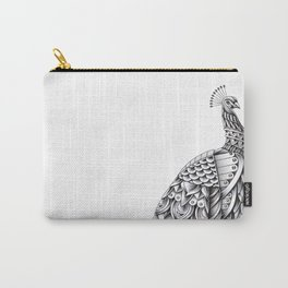 Ornate Peacock Carry-All Pouch