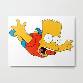 simpsons Metal Print