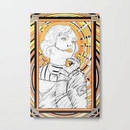 Cosmo girl warm Metal Print