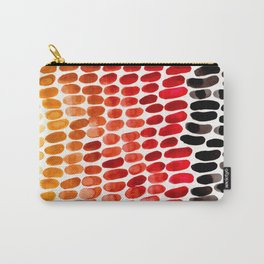 Colorful Primitive Pattern Watercolor Scales Abstract Desert Orange Yellow Ochre Carry-All Pouch