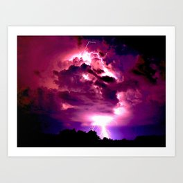 Embrace the Storm Art Print