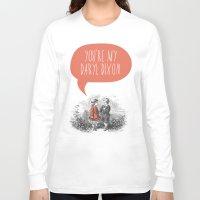 the walking dead Long Sleeve T-shirts featuring Walking Dead Love Story by Zeke Tucker