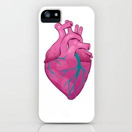 Hearts 01 - Human Heart (Transparent) iPhone Case