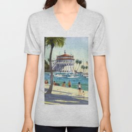 Avalon, Catalina Island Unisex V-Neck