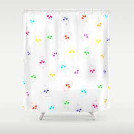Skullcake multicolor Shower Curtain