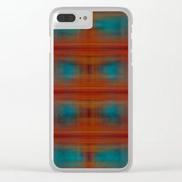 Night Swimming Plaid Clear iPhone Case