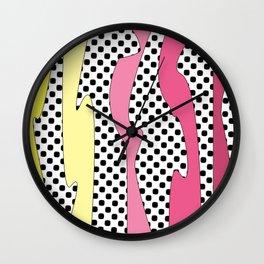 yellpink Wall Clock