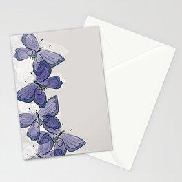 Purple Butterflies Pattern  Stationery Cards