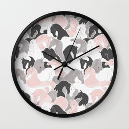 Playing Horses pattern Wall Clock
