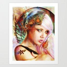 Astrid the Navigatrix Art Print