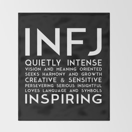 INFJ (black version) Throw Blanket