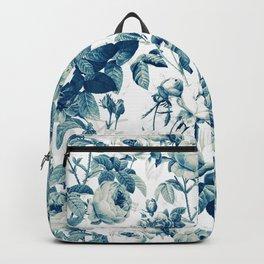 Vintage & Shabby-chic - floral blue roses flowers rose Backpack