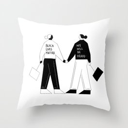 BLM Throw Pillow