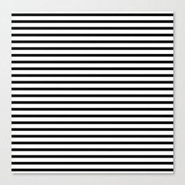 Black And White Stripes Breton Nautical Minimalist Canvas Print