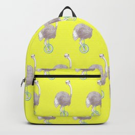 Ostrich on Monocycle Backpack