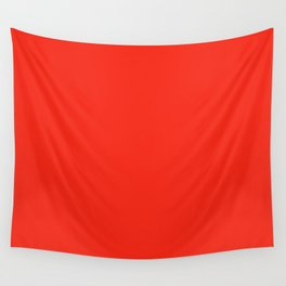Solid Bright Fire Engine Red Color Wall Tapestry