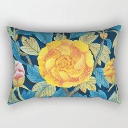 Folk Art flowers Rectangular Pillow