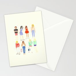Technicolor folks Stationery Cards