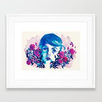 new year Framed Art Prints featuring New Year by Enrico Guarnieri 'Ico-dY'