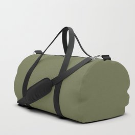 Pine Needle Green Solid Color Pairs With Behr Paint's 2020 Forecast Trending Color Secret Meadow Duffle Bag