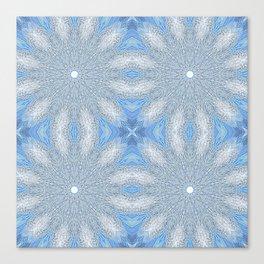 Serenity Blue & Gray Flower Canvas Print