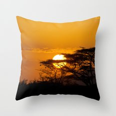 African sun Throw Pillow