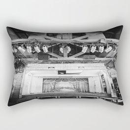 Gruene Hall stage (interior) - Oldest Dance Hall in Texas (B&W) Rectangular Pillow