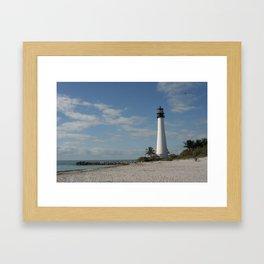 Cape Florida Light House Framed Art Print