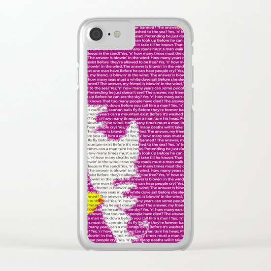 Bob Dylan wins 2016 Nobel Prize in Literature for his songwriting Clear iPhone Case