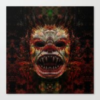 demon Canvas Prints featuring Demon by Zandonai
