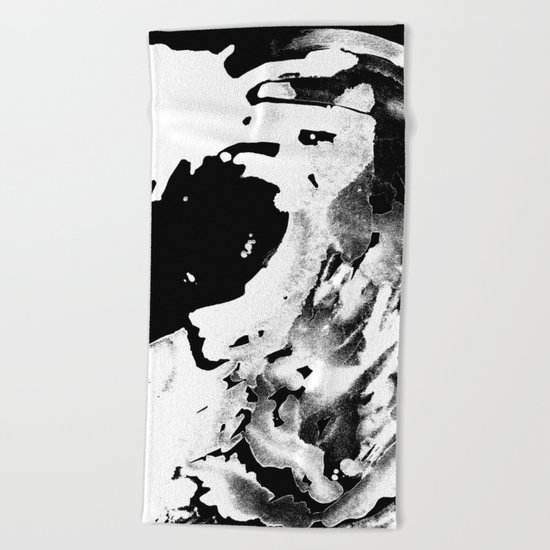 Keep Our Oceans Icy and Black and White Beach Towel
